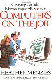 Cover of: Computers on the job | Heather Menzies
