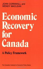 Cover of: Economic recovery for Canada | John Cornwall