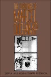 Cover of: The writings of Marcel Duchamp