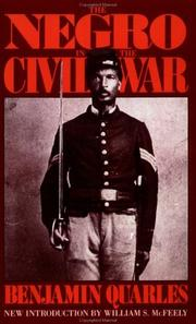 Cover of: The Negro in the Civil War