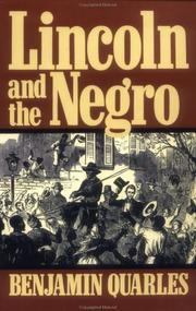 Cover of: Lincoln and the Negro