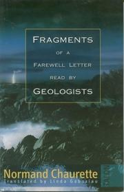 Cover of: Fragments of a farewell letter read by geologists