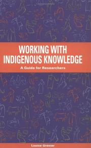 Cover of: Working with indigenous knowledge