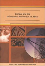 Cover of: Gender and the information revolution in Africa |