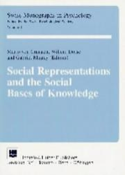 Cover of: Social representations and the social bases of knowledge |