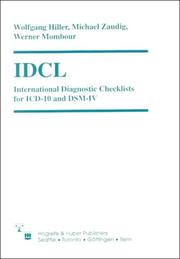 Cover of: Icd International Diagnostic Checklists for Icd-10 and Dsm-IV | Wolfgang Hiller