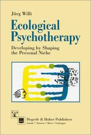 Cover of: Ecological psychotherapy