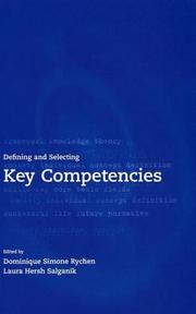 Cover of: Defining and selecting key competencies