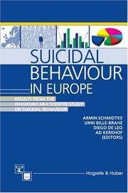 Cover of: Suicidal behaviour in Europe
