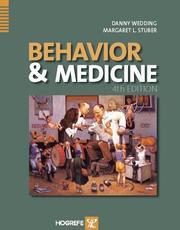 Cover of: Behavior and Medicine |