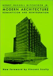 Cover of: Modern architecture