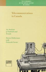 Cover of: Telecommunications in Canada | Steven Globerman