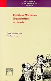 Cover of: Retail and wholesale trade services in Canada