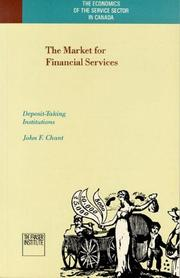 Cover of: The market for financial services | J. F. Chant