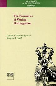 Cover of: The economics of vertical disintegration