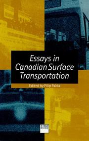 Cover of: Essays in Canadian surface transportation |