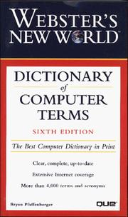 Cover of: Webster's new world dictionary of computer terms