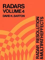 Cover of: Radar resolution and multipath effects |