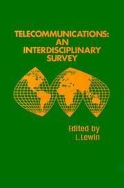 Cover of: Telecommunications, an interdisciplinary survey |