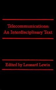 Cover of: Telecommunications | Leonard Lewin