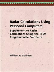 Cover of: Radar calculations using personal computers. | William A. Skillman