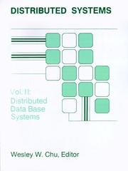 Cover of: Distributed Database Systems (Distributed Systems)