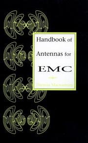 Cover of: Handbook of antennas for EMC