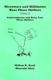 Cover of: Semiconductor and Delay Line Phase Shifters (Artech House Antennas and Propagation Library)