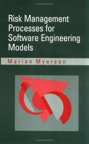 Cover of: Risk management processes for software engineering models
