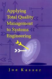 Cover of: Applying total quality management to systems engineering