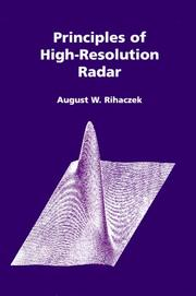 Cover of: Principles of high-resolution radar