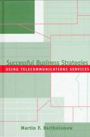 Cover of: Successful business strategies using telecommunications services