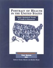 Cover of: Portrait of Health in the United States, First Edition 2001 | Beatrice A. Rouse