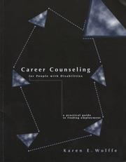 Cover of: Career counseling for people with disabilities