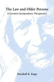 Cover of: The law and older persons