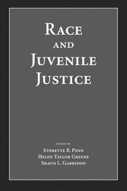 Cover of: Race and juvenile justice
