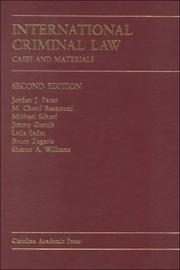 Cover of: International Criminal Law: Documents Supplement