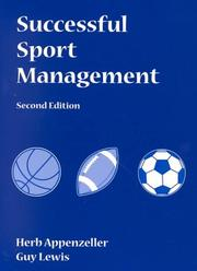 Cover of: Successful Sport Management