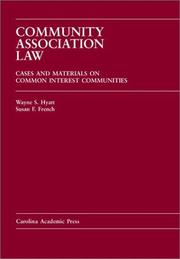 Cover of: Community association law