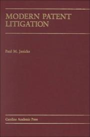 Cover of: Modern patent litigation
