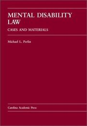 Cover of: Mental disability law