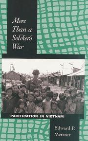 Cover of: More than a soldier's war