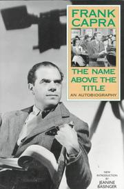 Cover of: name above the title | Frank Capra