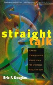 Cover of: Straight talk | Eric Douglas