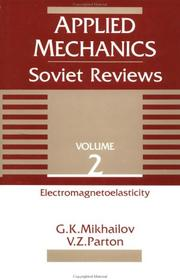 Cover of: Applied mechanics