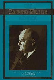 Cover of: The Edmund Wilson reader