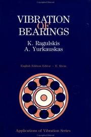 Cover of: Vibration of bearings