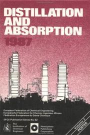 Cover of: Distillation & Absorption