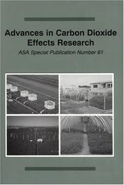 Cover of: Advances in carbon dioxide effects research |