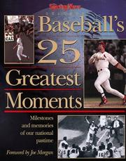 Cover of: The Sporting News selects baseball's 25 greatest moments